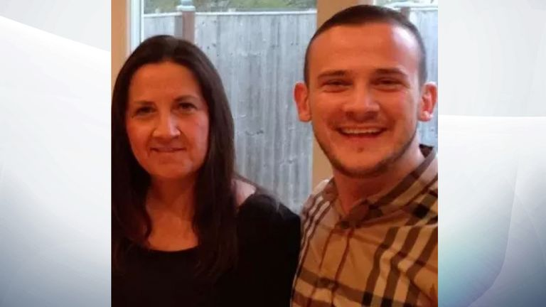 Tracey Hanson with her son Josh