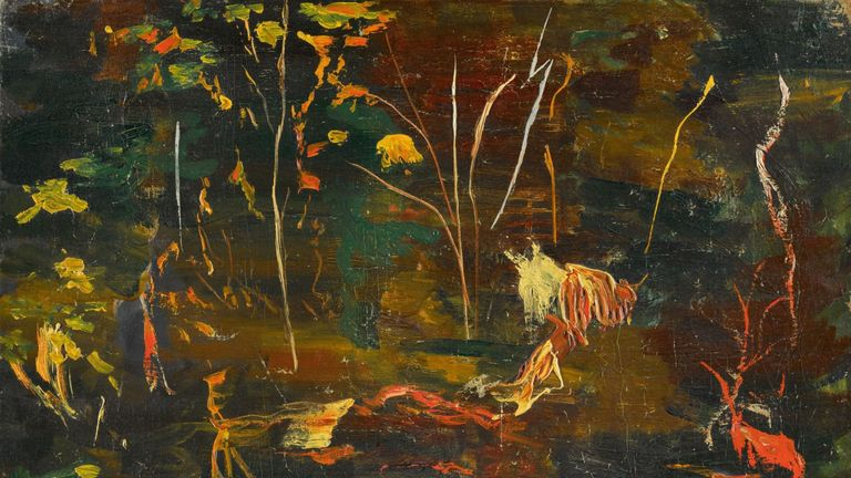 Winston Churchill's final painting - The Goldfish Pool - is up for sale at Sotheby's