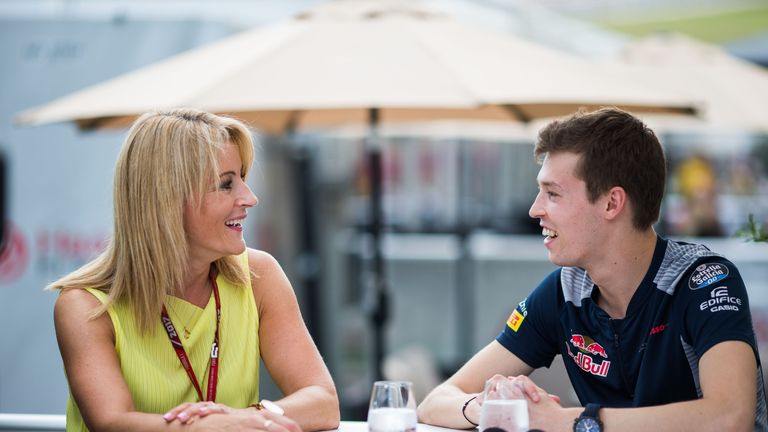 AUSTIN, TX - OCTOBER 19:  Daniil Kvyat of Scuderia Toro Rosso and Russia  during previews ahead of the United States Formula One Grand Prix at Circuit of T