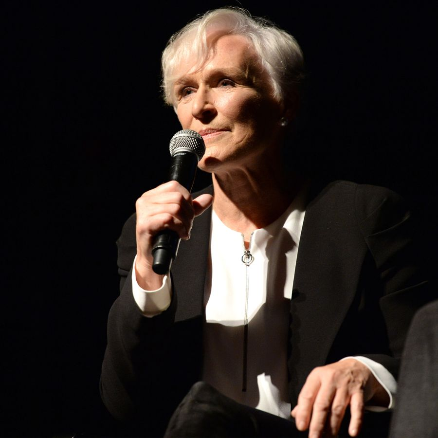 NEW YORK, NY - OCTOBER 06: Glenn Close speaks on stage during The 2017 New Yorker Festival at Gramercy Theatre on October 6, 2017 in New York City. (Photo by Andrew Toth/Getty Images for The New Yorker)