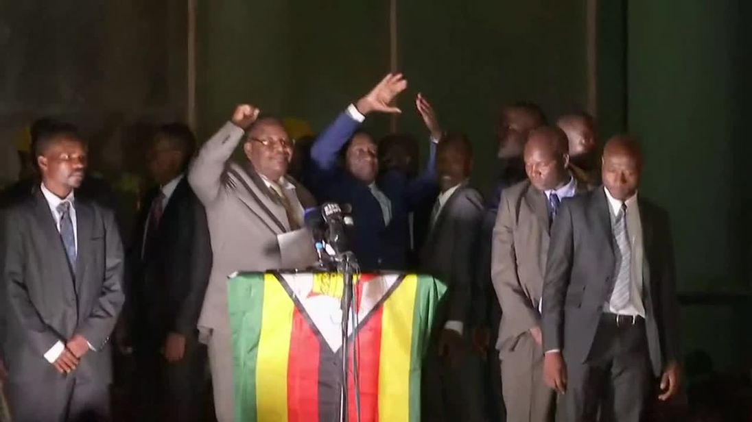Mugabe successor reveals 'poisoning' and vows to create jobs