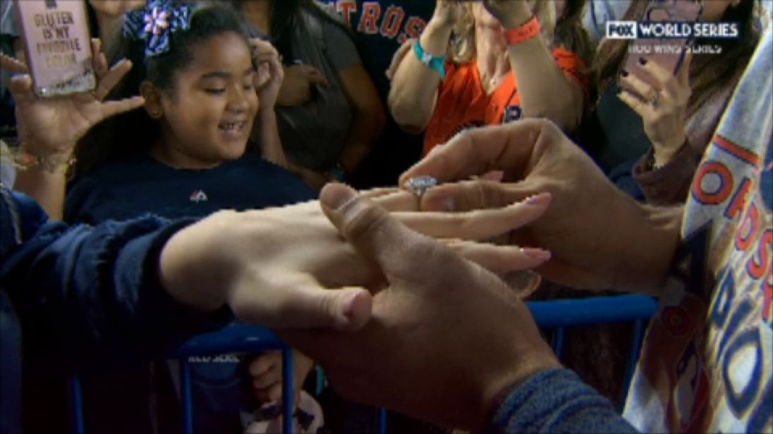 Baseball player Carlos Correa proposes to his girlfriend on live TV after World Series win.