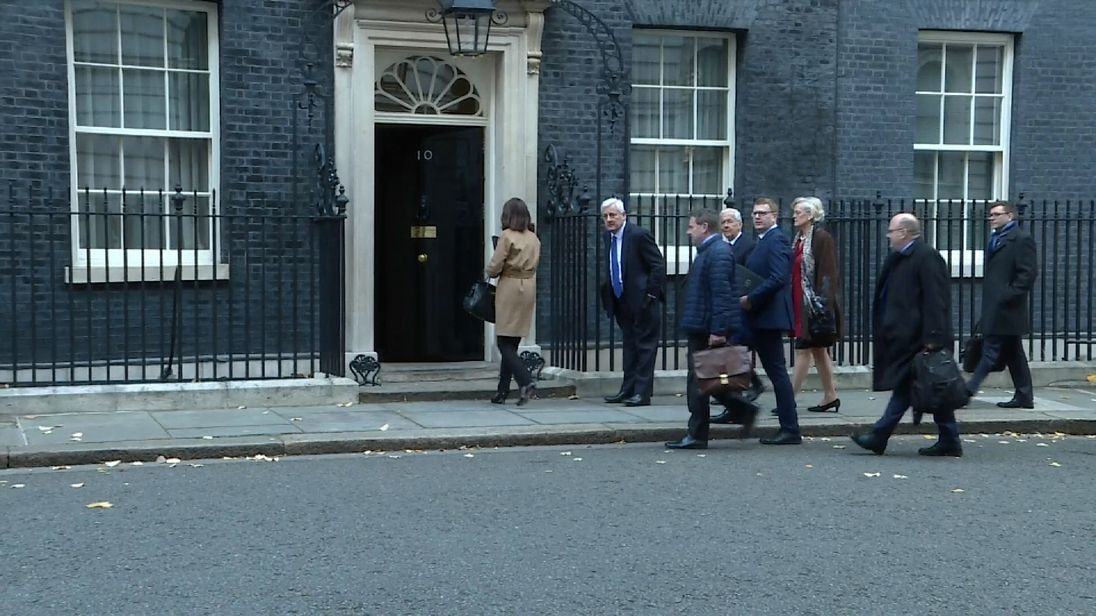 The leaders of 15 business groups from across the EU descended on Downing St for the meeting