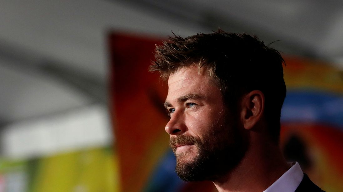 Chris Hemsworth at the premiere of Marvel's Thor: Ragnarok
