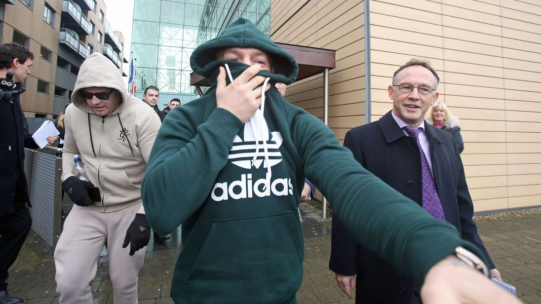Conor McGregor leaving Blanchardstown District Court in Dublin