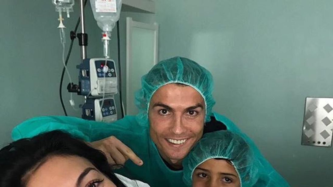 Cristiano Ronaldo said mother and baby were 'very happy'