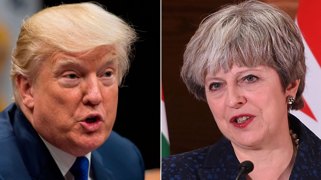 United Kingdom reeling as Trump upbraids May in anti-Muslim tweet row
