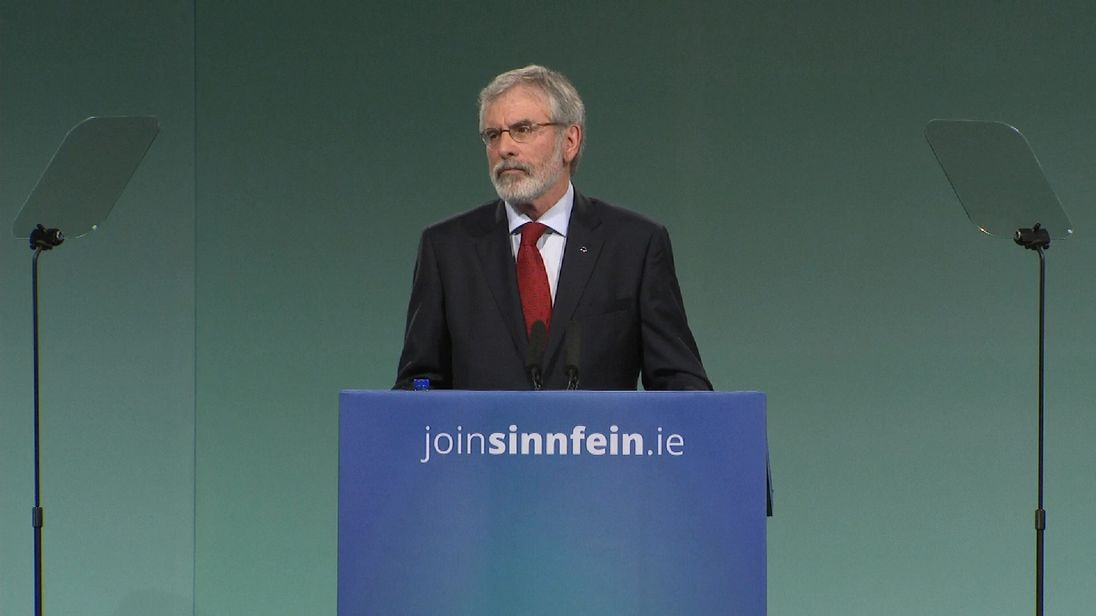 'Explosive device' thrown at Gerry Adams' home in Belfast