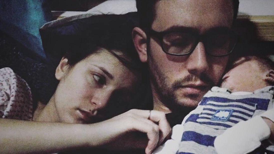 Hayley and Adam Pownsey with their stillborn son Joshua