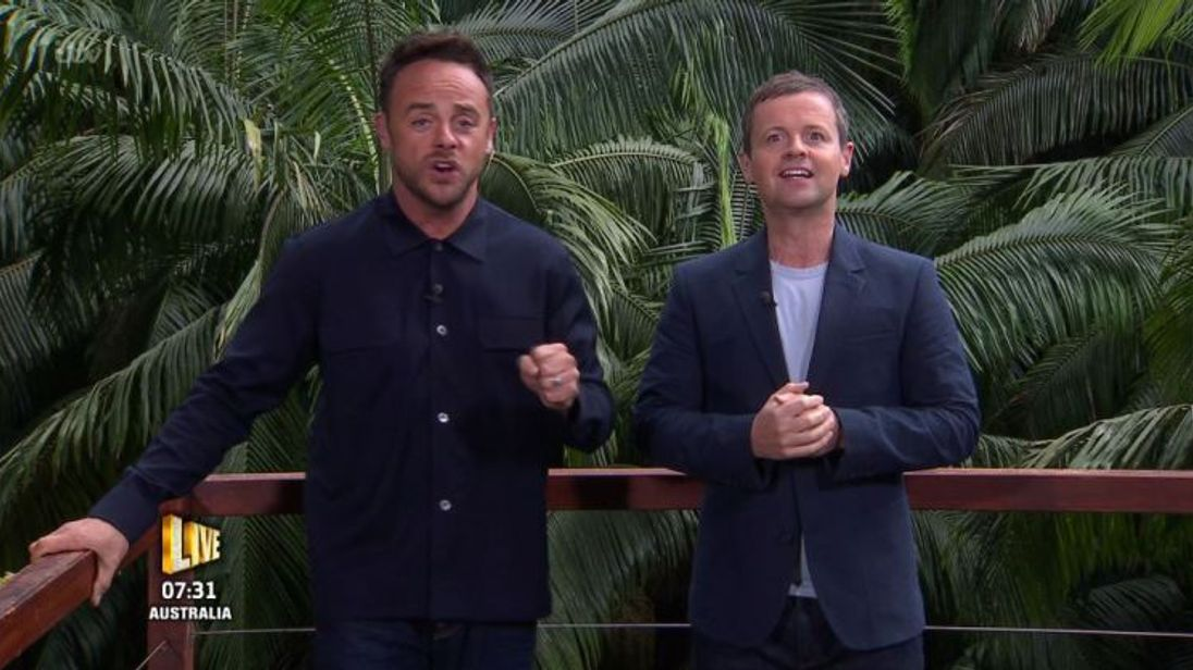 Ant Mcpartlin with Declan Donnely on set of 16th series of show