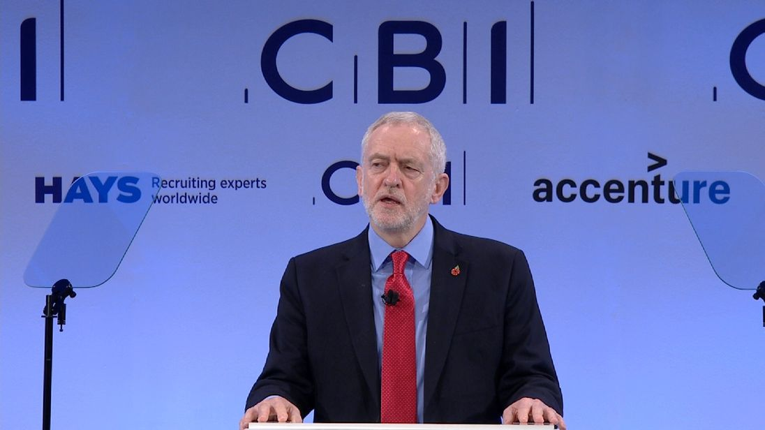 Jeremy Corbyn tells the CBI what he thinks about tax avoidance and evasion