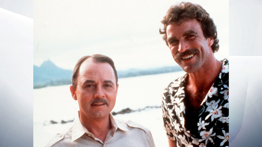 John Hillerman and Tom Sellek