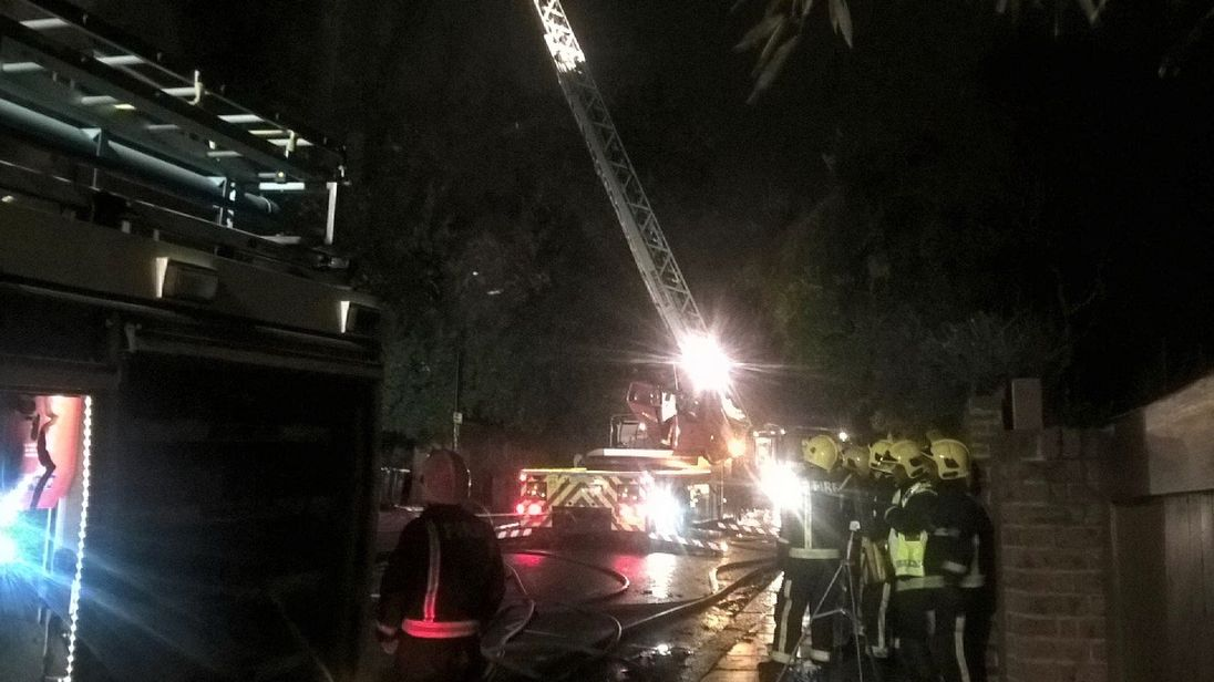 Around 60 firefighters battle huge fire engulfing residential flats in Hampstead