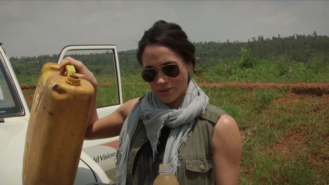 Meghan visited Rwanda to help build wells with the charity World Vision. Pic: World Vision