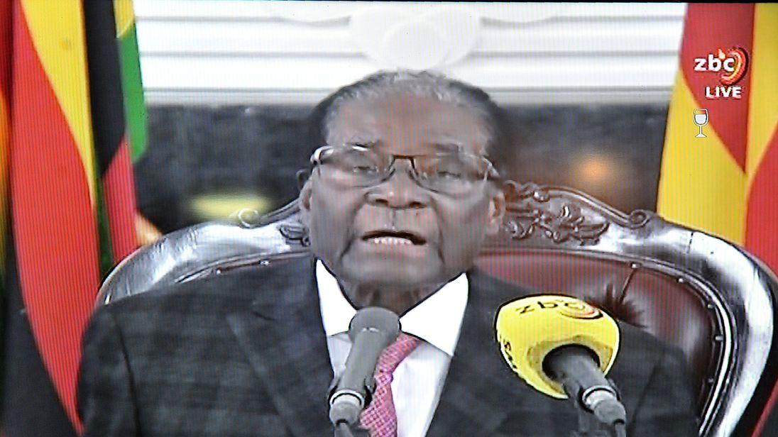 Robert Mugabe refuses to resign in speech