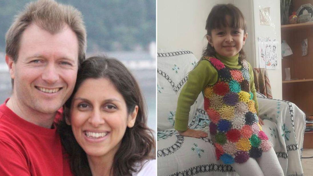 Nazanin Zaghari-Ratcliffe, her husband Richard and their daughter Gabriella