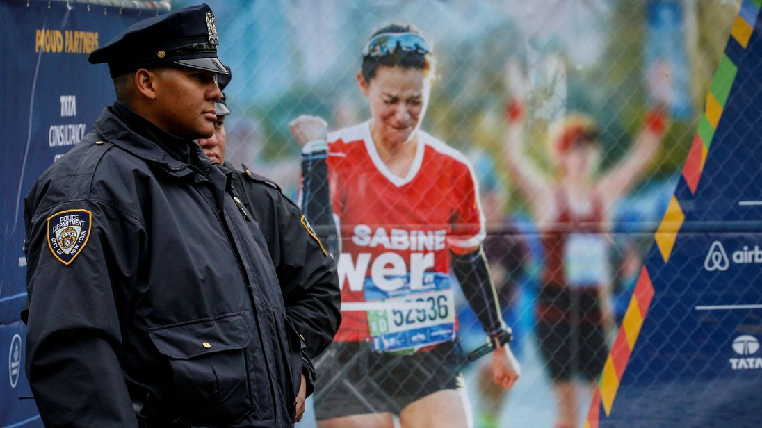 Security has been stepped up to protect the 50,000 NY Marathon runners