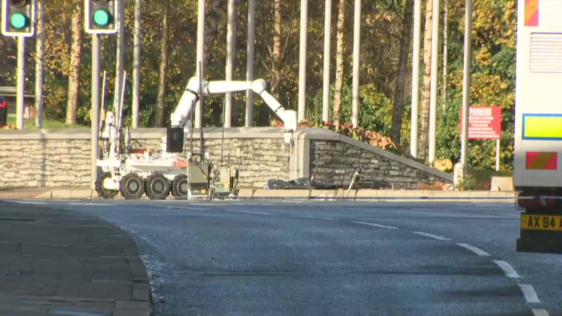 Bomb disposal robot in Omagh