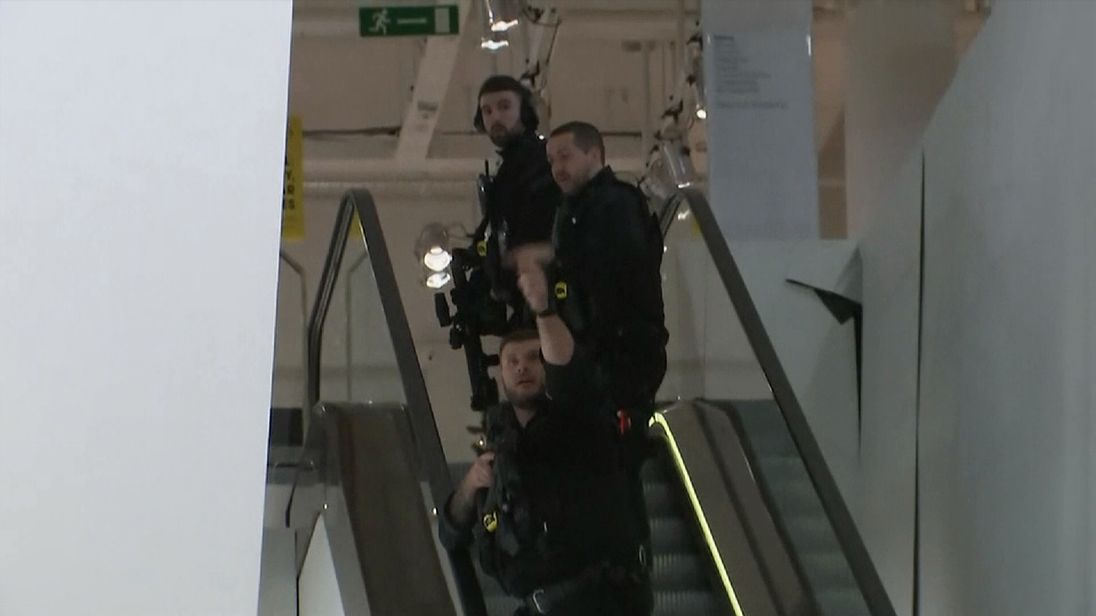 Armed police were seen entering Selfridges, the London department store