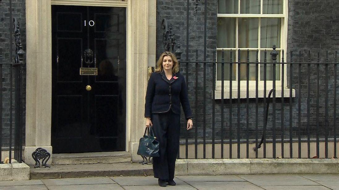 New International Development Secretary Penny Mordaunt leaves Downing Street