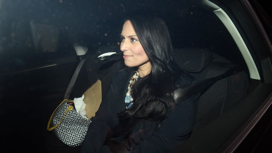 British Secretary of State for International Development Priti Patel arrives at on November 8, 2017 in London, England. Ms Patel has been summoned back to the U.K from an official trip to Uganda as more details of her unofficial meetings with Israeli officials emerge.