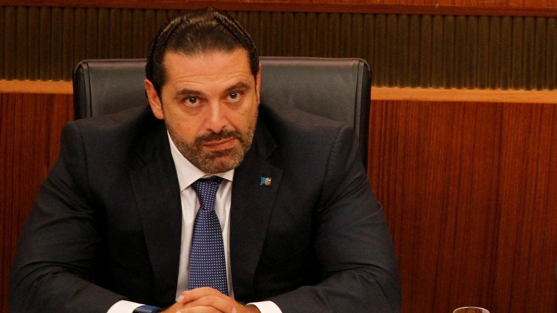 LEBANON-POLITICS/SYSTEM IDENTIFIER:RTS1J5NGCODE:RC1BE0F05940MEDIA DATE9 Nov. 2017PHOTOGRAPHER:Mohamed AzakirHEADLINE:FILE PHOTO: Lebanon's Prime Minister Saad al-Hariri attends a general parliament discussion in downtown