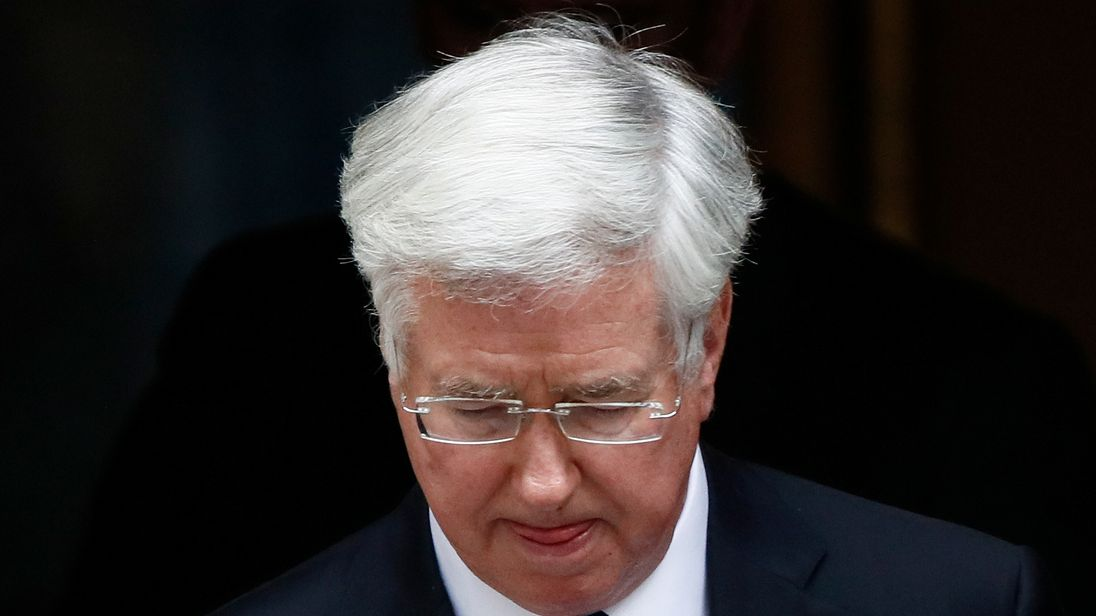 Downing Street has confirmed Sir Michael Fallon's resignation