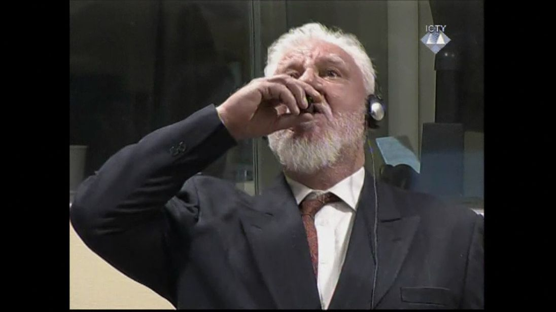 Praljak told the court: 'I am not a war criminal, I oppose this conviction'