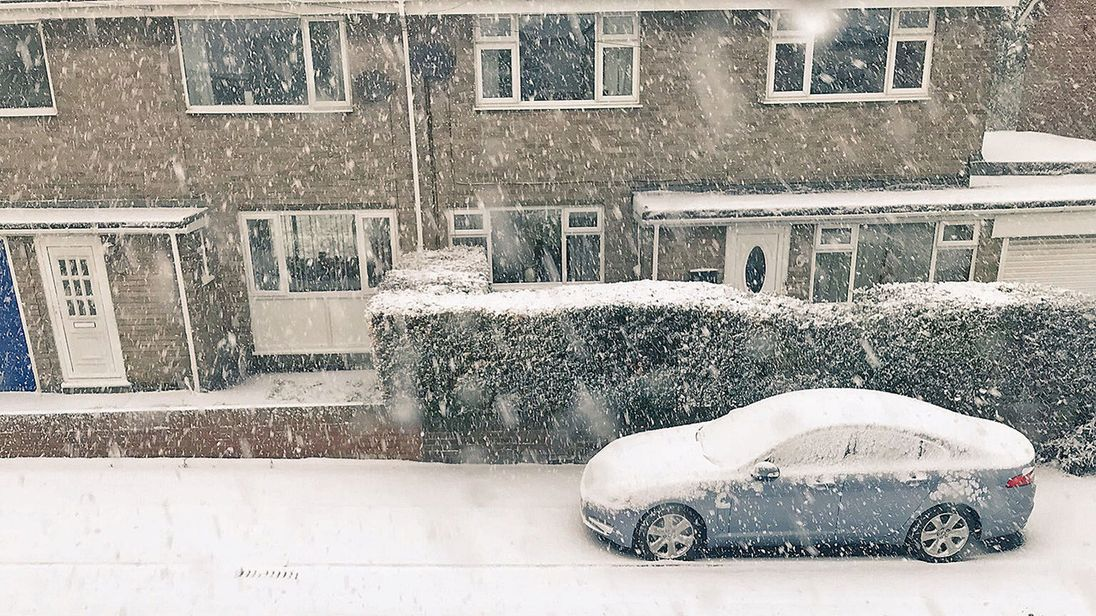 Snow in Seaham, County Durham. Pic:  Steph Charlton