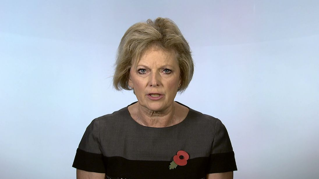 Conservative MP Anna Soubry, speaking at Millbank.