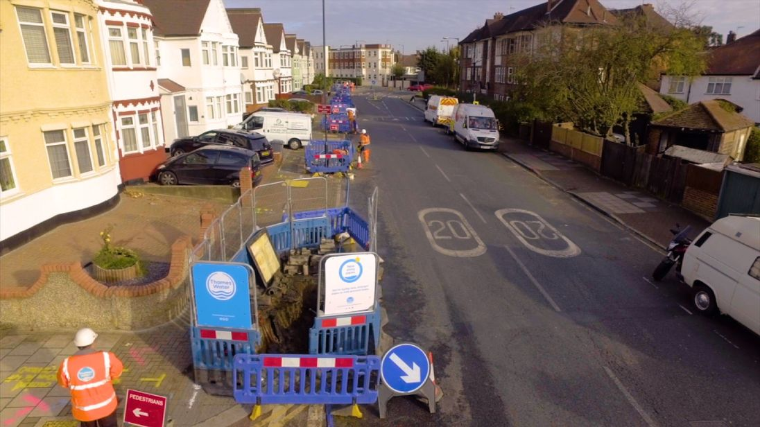 Thames Water expects to hit its leak targets by 2020. Pic: Thames Water