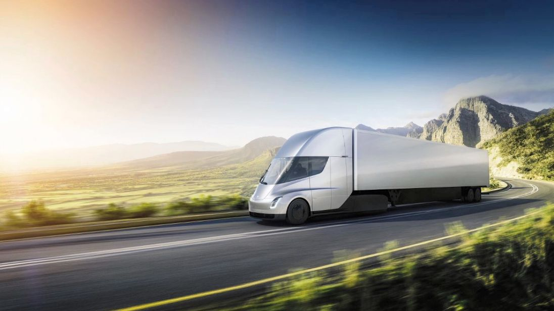 Tesla's unveiled a prototype for an electric truck