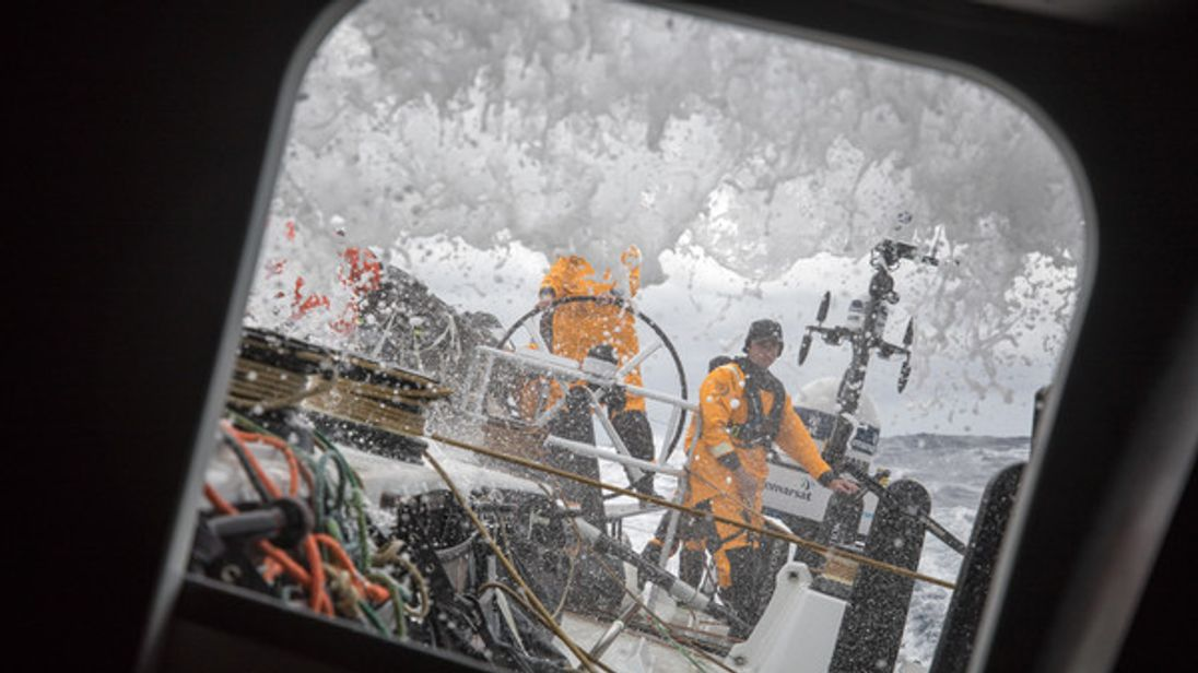 Leg 02, Lisbon to Cape Town, day 01,  On board Turn the Tide on Plastic. Photo by Sam Greenfield/Volvo Ocean Race. 06 November, 2017