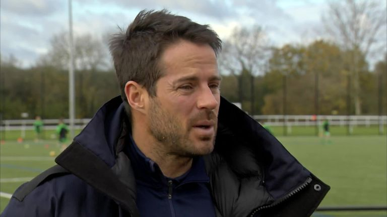 Jamie Redknapp attended the opening of Leatherhead FC's new all-weather pitch,funded by the Premier League, the FA and delivered by the Football Foundation.