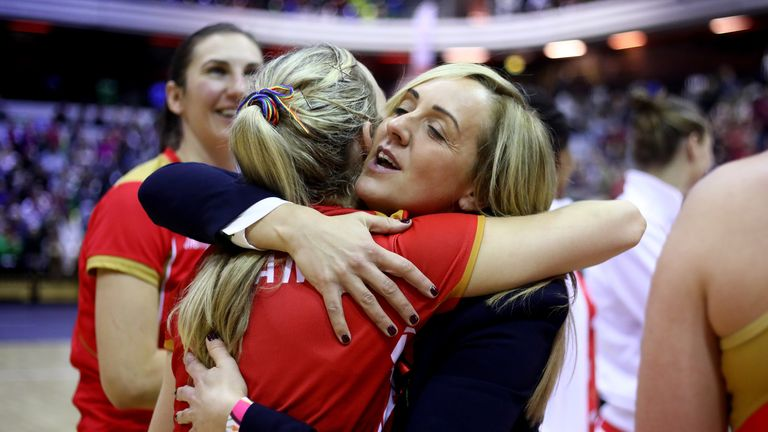 England head coach Tracey Neville praises the defence through the court in the Roses' tri-series victory over Malawi.