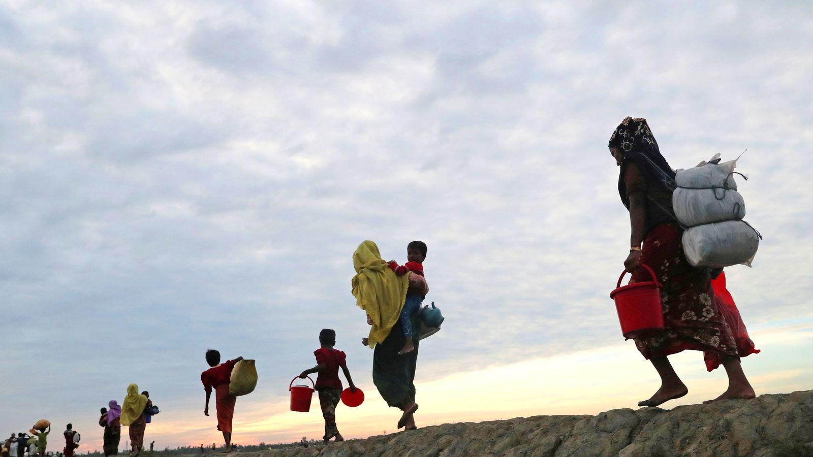 Myanmar Troops Accused Of Gang-Raping Rohingya Women And Girls  World News  Sky News-2302