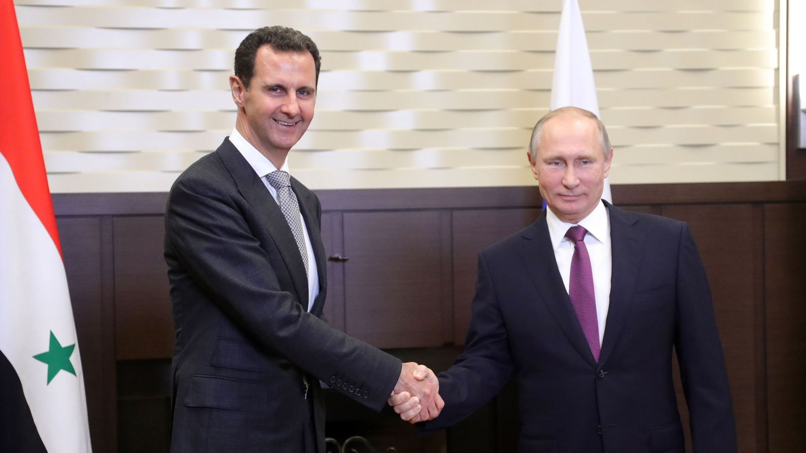 Syria military operation 'wrapping up', Putin tells Assad during Russia talks