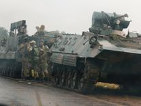 Military vehicles in Zimbabwe