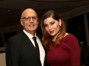 Actor Jeffrey Tambor and Actress Trace Lysette attending Amazon's Golden Globe Awards Celebration in 2016