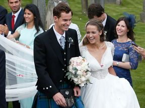 Sir Andy Murray with wife Kim