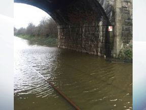 Arriva Trains tweeted this picture of flooding on the line between Bangor and Holyhead. Pic: Arriva Trains