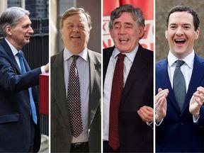 Former chancellors Philip Hammond, Ken Clarke, Gordon Brown and George Osborne