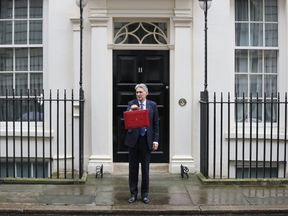 Philip Hammond holds the Budget Box