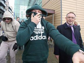 Conor McGregor leaving Blanchardstown District Court in Dublin
