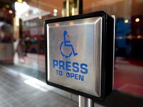 Disabled entrance door