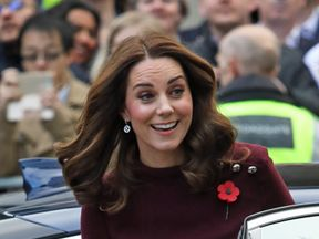 The Duchess of Cambridge arrives to open the Place2Be's school leaders forum in London