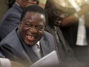 Emmerson Mnangagwa during the period when he was vice president. File picture