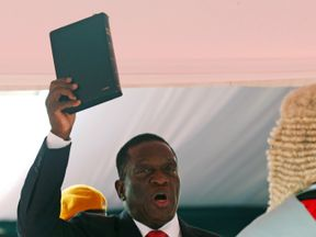 Zimbabwe's Emmerson Mnangagwa, is sworn in as president in Harare