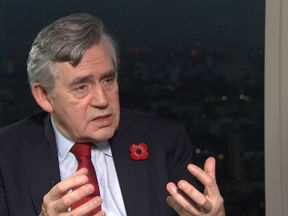 Gordon Brown talks to Sky's Dermot Murnaghan