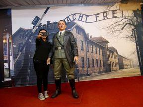 A life-size wax sculpture of Adolf Hitler